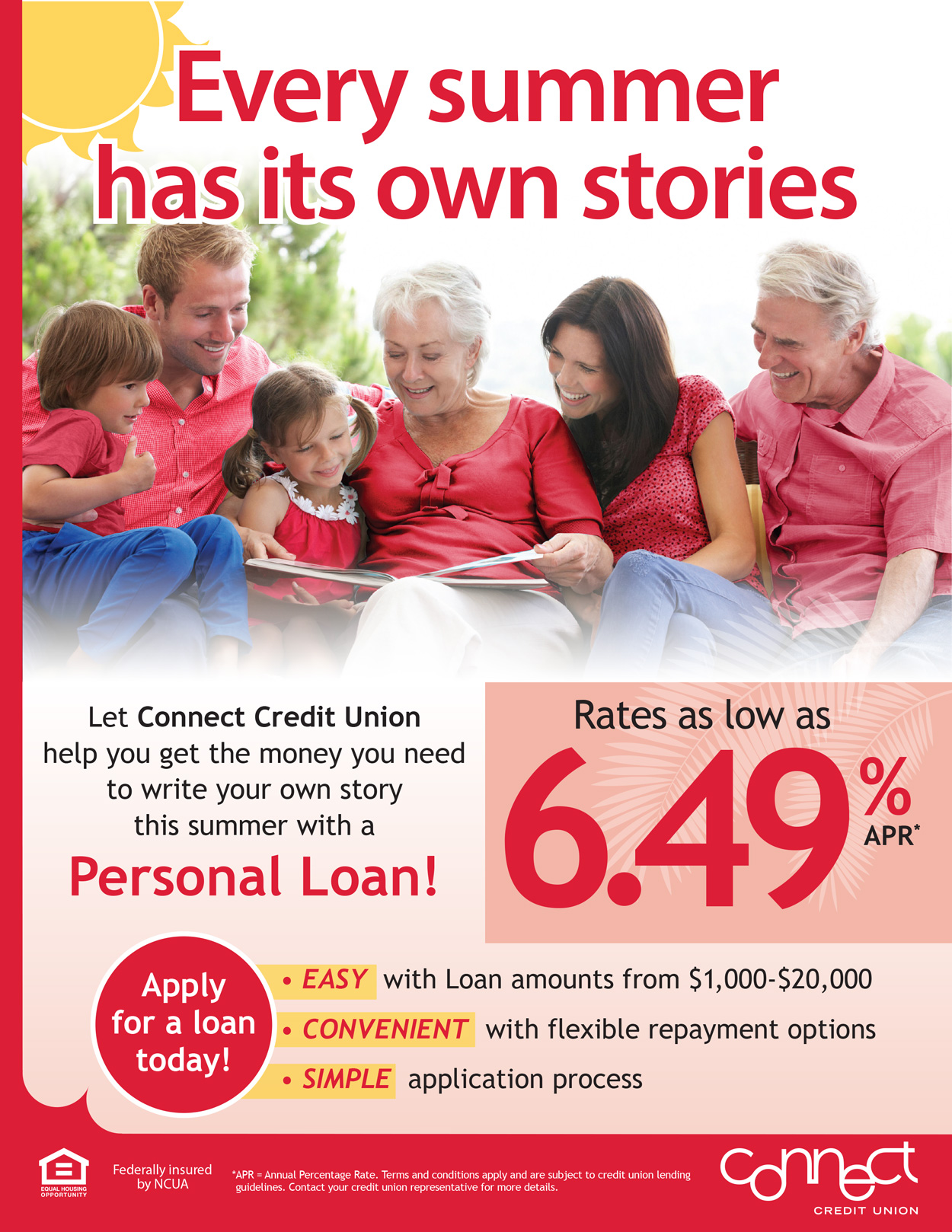 Get the money you need to write your own story this summer with a Personal Loan